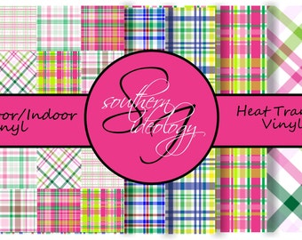 Beautiful Patterned Craft Vinyl and Heat Transfer Vinyl in Plaid Patterns