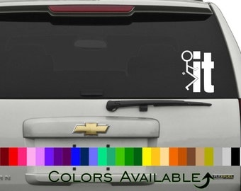 F%#k It Stick Figure Car Decal