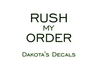 Rush My Order - Wall Decal
