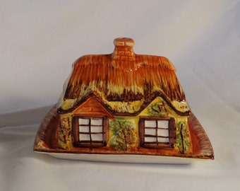 Butter Cheese Dish ~  Ye Olde Cottage  Price Kensington, Made in England,