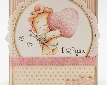 OOAK Valentines day card
