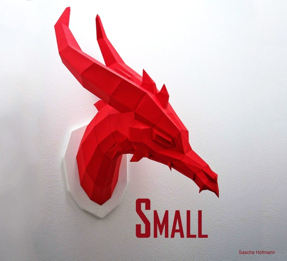 SMALL Dragon - Papercraft Kit