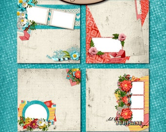 Digital Scrapbooking: Glorious Quick Page Set