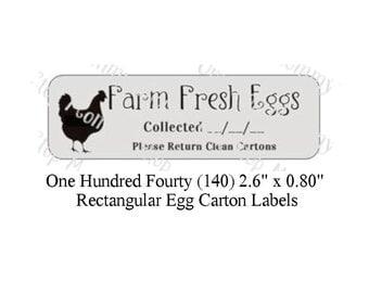 140 Egg Carton  Labels