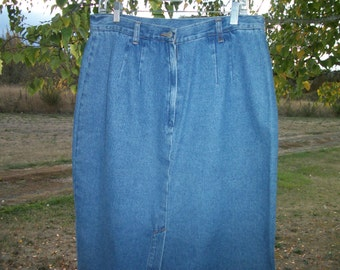 80s does COWGIRL BLUE JEANS Skirt, size 14
