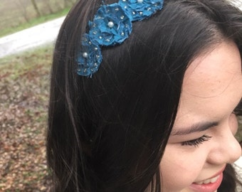 Studded Blue Headband