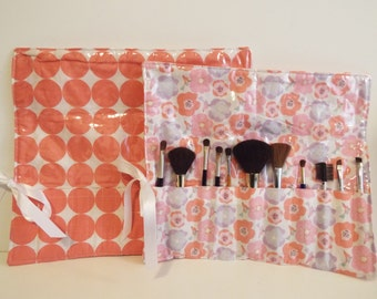 Makeup Brush Roll, Cosemetic Brush Roll