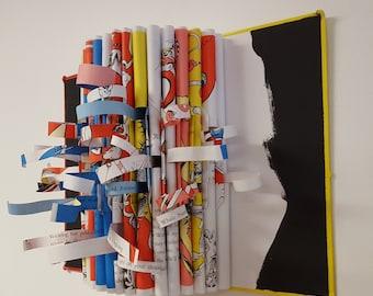 Altered Book Wall Sculpture - A Start