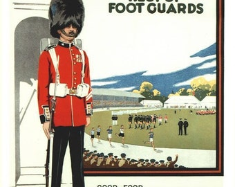 Vintage Irish Guards Recruitment Poster A3/A2 Print