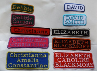 Personalised Patches Iron on / Sew on H/Q Canvas Fabric