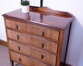 SOLD Vintage solid wood chest of drawers four drawer chest storage. Chest of drawers.