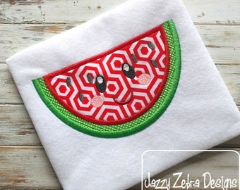 Watermelon with Face 104 Appliqué Design