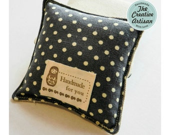 12/24 Cream/Khaki 'Handmade For You' Clothing Label, Fabric Label, Scrapbooking, Embellishment For Crafts & DIY