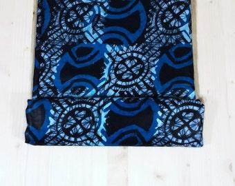 African Wax Batik Fabric/Batik Fabric African Cloth/Hand-Dyed African Batik/African Fabric Batik/West African Batik Fabric Turquoise, Cd.166