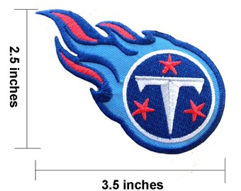 NFL Tennessee Titans Embroidered Iron On Patch.