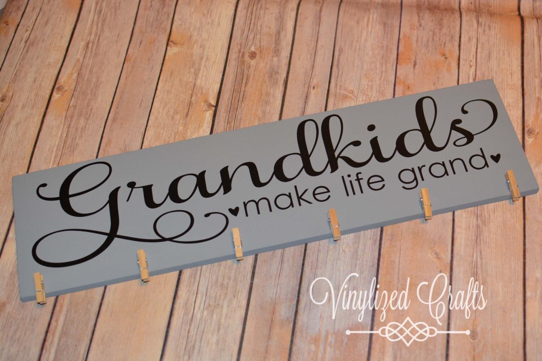 grandkids make life grand vinyl only for 6x18 With grandkids make life grand vinyl lettering