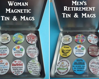 Retirement Frig Magnets Ladies Frig Magnets Included Magnetic Tin Mens Retirement Magnets Keeps Magnet Out Of The Way Graphics Magnets