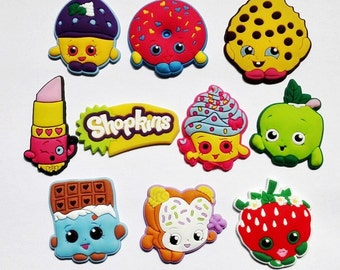 Shopkins Frig Magnets OR Croc Shoe Charms Cutest Magnets  Hang Kids Artwork Photos On Frig Strong Neodymium Magnets