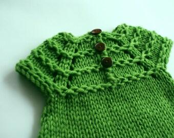 Baby sweater knit, Green girls sweater, Newborn sweater, baby girl sweater, knit baby sweater