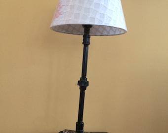 steampunk antique iron lamp