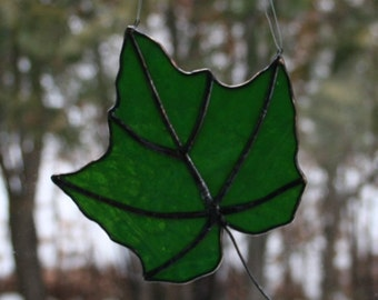 Stained Glass Maple Leaf #7
