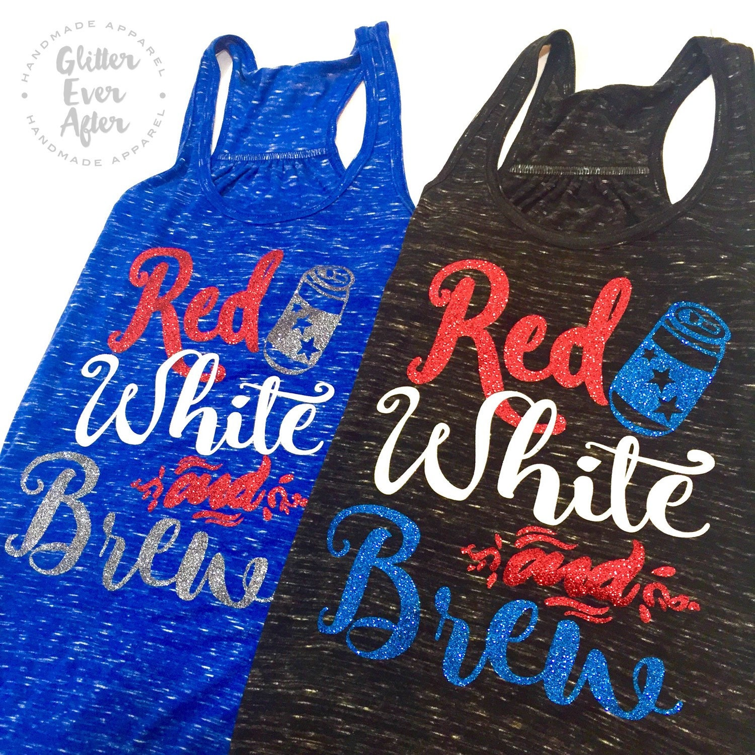Red White and BREW Glitter Shirt Tote Hoodie Many Styles - photo#26