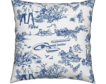 Star Trek pillow - toile blue pattern pillow cover 16x16inch