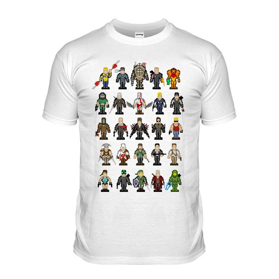 Video Game Inspired T Shirt 8bit Pixel Gaming Tshirt 8 Bit