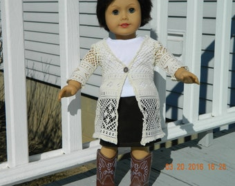 18 Inch Doll Outfit - 3 Piece Tan/Brown Set