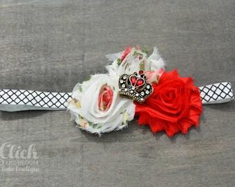 Queen of hearts headband Red headband