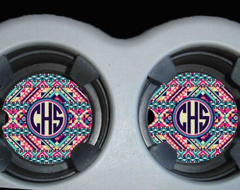 Monogram Car Coaster, Cup Holder Coasters, Personalized Car Coaster, Monogram Gift, Personalized Gift, Accessories For Women, Gifts For Her