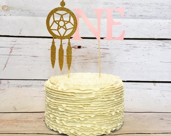 Dream catcher cake topper - first birthday decor - cake topper - boho party - boho birthday - aztec birthday - pow wow party - dream catcher