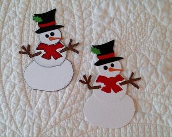Snowman Die-Cuts -- set of 2