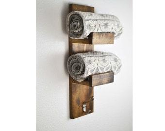 Rustic Towel Rack, Hand Towel Rack, Rustic Home Decor, Rustic Bathroom,  Towel