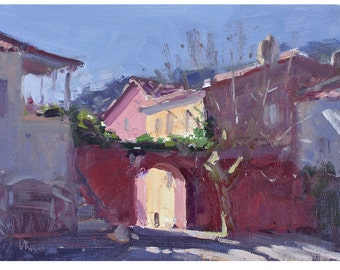 Early Morning in Sintra - original Portuguese landscape oil painting