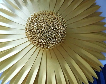 Giant Paper Flower in gold
