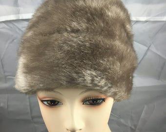 1950s faux fur hat