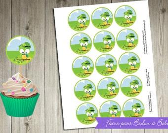 "Digital printable - ""St-Patrick"" Cupcake Topper-"