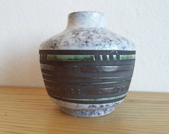 Vintage Haldensleben vase ... GDR ... Fat Lava ... East German Pottery