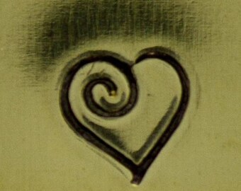 Design Stamp- Heart with Swirl (PN5294)