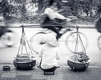 A Fruit seller Ha Noi, Vietnam