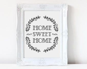 Home Sweet Home Printable Art | Entryway Wall Decor | Entryway Art | Sweet Home Mud Room Printable Art | Home Decor |