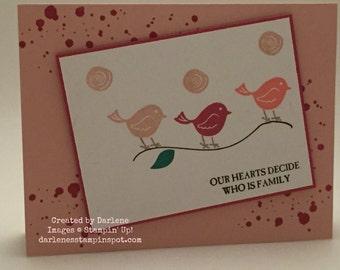 Stampin' Up! Handmade Card Swirly Bird