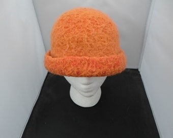 Alpaca, Silk and Wool Felted Hat