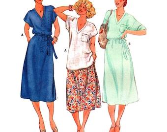 Butterick Sewing Pattern 6156 Misses' Top, Skirt  Size:  12  Uncut