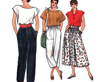 Vogue Sewing Pattern 9303 Misses' Skirt, Pants  Size:  12-14-16  Uncut