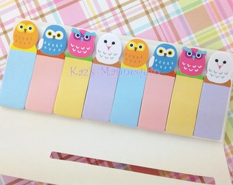 Very Cute Owls Sticky Tags! (B)