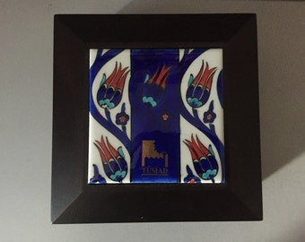 Free Shipping* Ottoman Tulip Tiles Iznik Pottery - Wooden Box