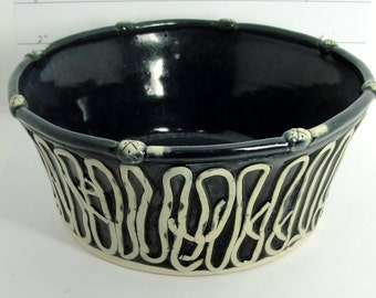 Black and white and used quite often bowl