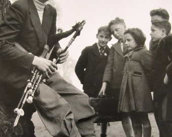 """Contemporary photograph Large Format Seamus Ennis - """"Uilleann Pipers"""" - Ireland - circa 1950's - Celebrity"""